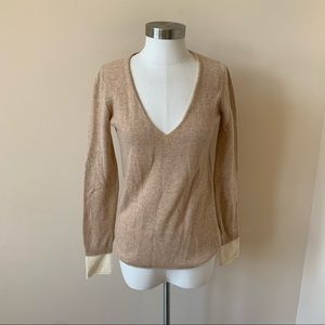 Joie 100% cashmere v-neck layered sweater 7375